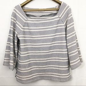 Postmark Striped Top Square Neck Anthropologie